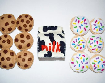 Milk and Cookies Pretend Food