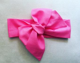 Fuscia Pink Headband Headwrap