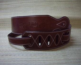 Guitar strap with signature