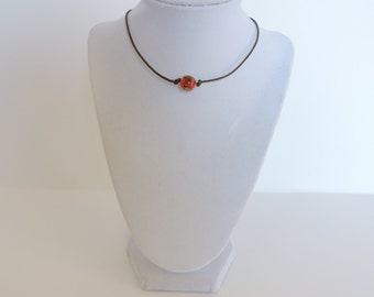 Strawberry Choker Bead Necklace