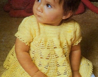Girls Party Dress, Crochet Pattern, PDF Instant Download.