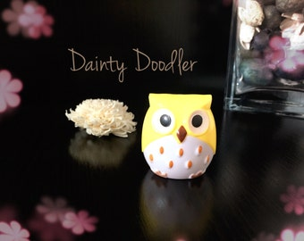 Cute Yellow Owl Dual Sharpener / Stationery / Office / Desk / School / Beauty / Gift
