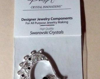 Pure Allure Crystal Innovations Swarovski Crystals Jewelry Components Pendant 7 Ring Loop