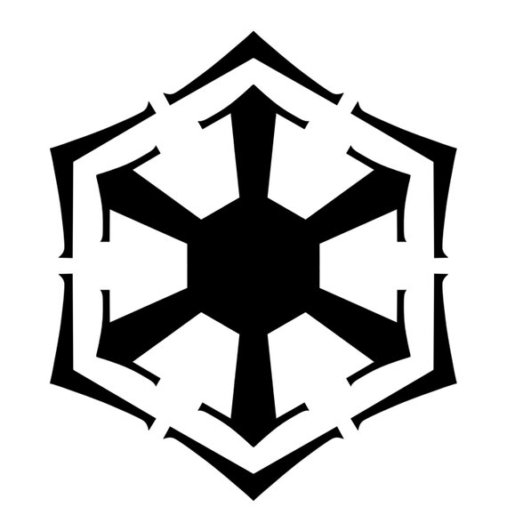 star wars sith empire bendu symbol inspired vinyl decal for. Black Bedroom Furniture Sets. Home Design Ideas