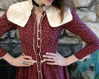 Crimson Gunne and Sax prairie dress