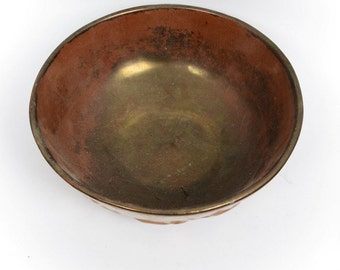 Beautiful Bronze Colored Ceramic Bowl - Made in England
