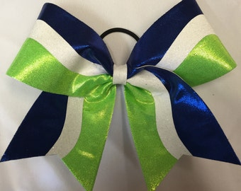 Glitter Mystic Curve Custom Cheer Bow