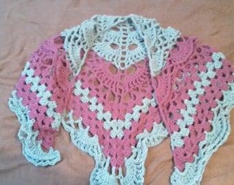 Crocheted shawl on sale!