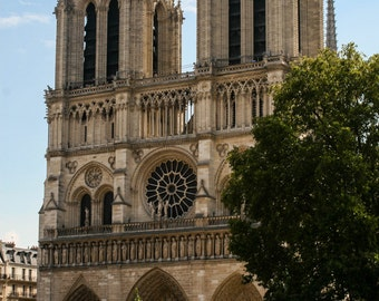 Notre Dame Cathedral. Paris. France. Travel Photography. Fine Art Print. Wall Art. Home Decor. Historic Building Picture. Europe.