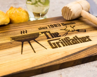 Grill board, Fathers custom gift, gift for dad, Unique Gift for husband, Grill gifts, Personalized Cutting Board, for Chef, gift for him