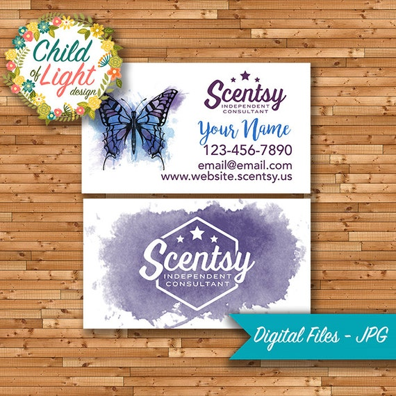 Scentsy Business Cards Independent Cards Custom Business