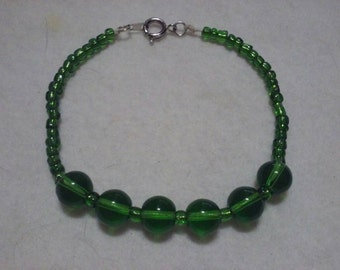 Green Bangle Bracelet
