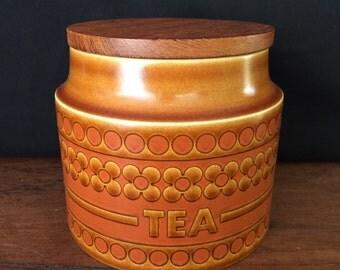Hornsea canister tea jar. England 1974