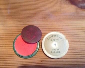 California Poppy rouge rare vintage cosmetics