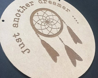Just another dreamer ... Door Sign Decor Wall Hanging Gift Boho Door Sign Bedroom Decor