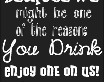 Custom Reason You Drink Gift Tag
