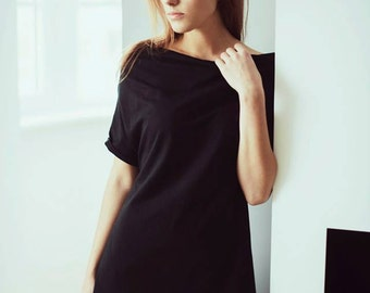 Black tunic/ Black clothing/ Black tunic top/ Women's tunic/ Tunic dress