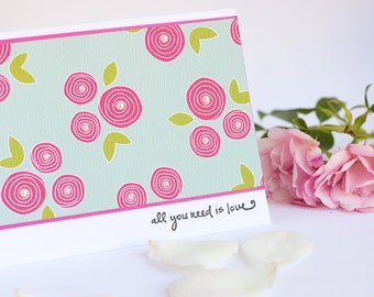 Love Card With Roses