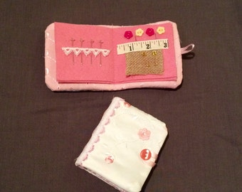 Handmade felt needle book. Sewing kit. Travel Ideal gift for birthdays, Christmas mothers day present