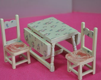 Furniture for Dolls House, dolls house furniture, dining room 1:12
