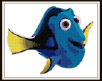 Finding Dory Cross Stitch Pattern - Finding Nemo - PDF Instant Download