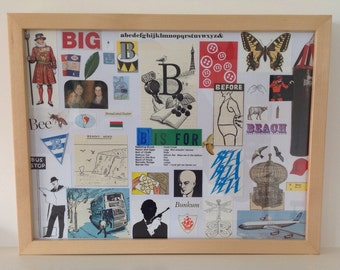 Framed 'B is for...' Collage