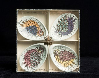 Royal Copenhagen Spoon Rest Set of 4 in Box