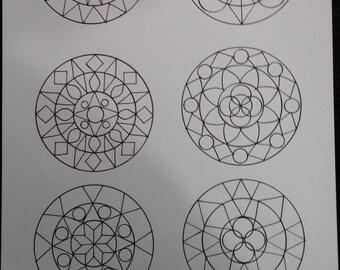 Coloring Board - Geometric circles