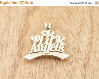 1 Day Sale Lil Angels Pendant Sterling Silver 2.3g Vintage Estate