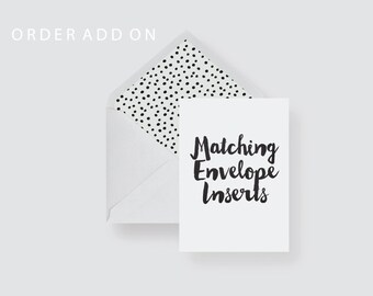 Matching Envelope Liner Add On