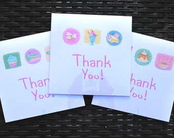 CUTE FOODS-Thank You Cards