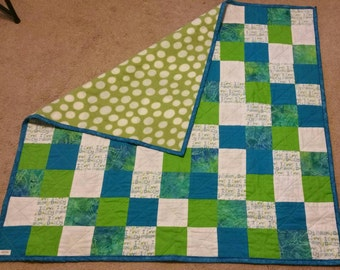 I love mommy-daddy-toddler- lap quilt- birthday gift