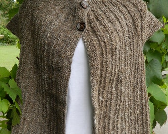 Hand Spun Hand Knitted Vest