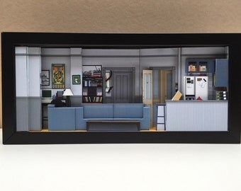 Seinfeld Apartment set shadowbox diorama | Seinfeld merchandise for your diehard fan