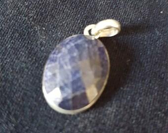 Lapis Lazuli faceted pendent