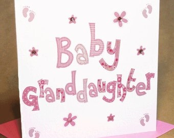 Baby Granddaughter Card  (jewelled)
