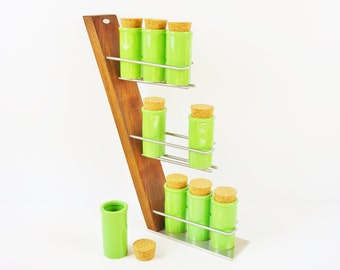 Wooden Spice rack stainless steel oak exclusive solid wood kitchen cooking Fritzsche elegant stylish modern design