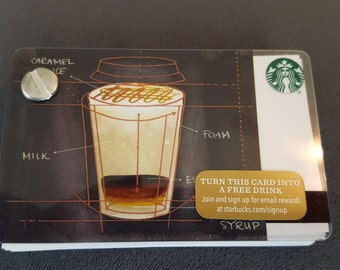 Starbucks Upcycled Refillable Giftcard Notebook - 2015 Caramel Macchiato