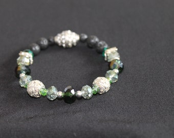 Green Essential Oil Aromatherapy Diffuser Bracelet *20% Charity*