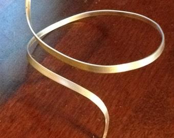 Silver arm cuff