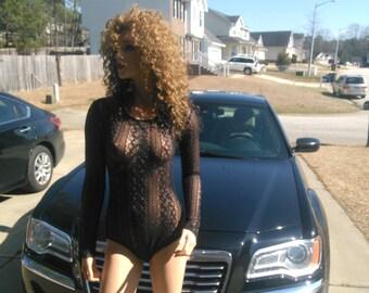 lace long sleeve bodysuit