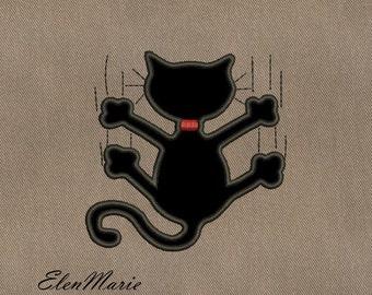 Cat  applique  - MACHINE EMBROIDERY DESIGN