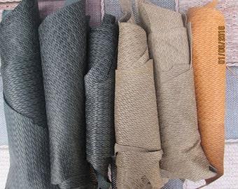 Quality Leather Italian Unusual Scrap/Off Cuts/Pieces 500gr