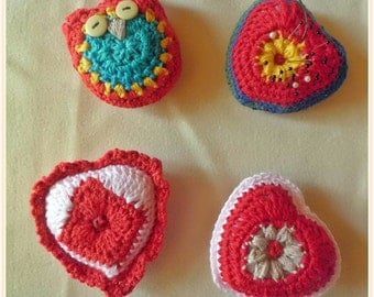 crochet pin cushions / scented sachets / Buy4pay3