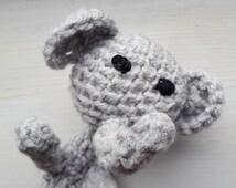 Elephant Crochet Finger Puppet, Grey Elephant, Finger Puppet, Crochet Elephant, Fun Puppet, Cute Elephant, Elephant Pencil Topper