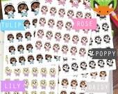Happy Mail Kawaii Girls Etsy Order Mail Day Sticker Set - Planner Stickers - Planner Decorations - Kikki-K & Erin Condren Sticker Sets