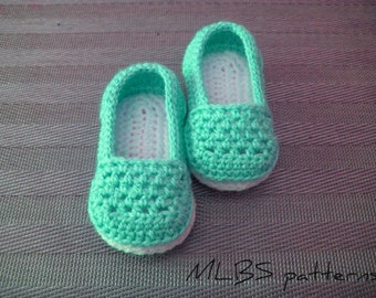 Crochet pattern baby shoes booty 0-18 months Photo Tutorial US terminology Instant Download Nr.26