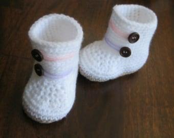 Baby booties crochet pattern crochet boot Instant Download Nr.33