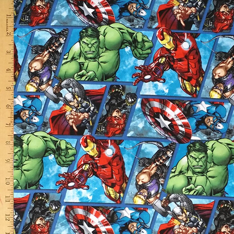 Super Hero Fabric Marvel Comics Fabric By SaltnPepperDesign