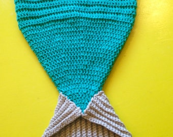 Crochet Baby Mermaid Tail Blanket